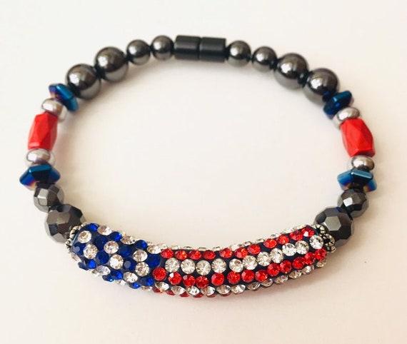 Magnetic Bracelet USA Strong High Power Magnetic Hematite