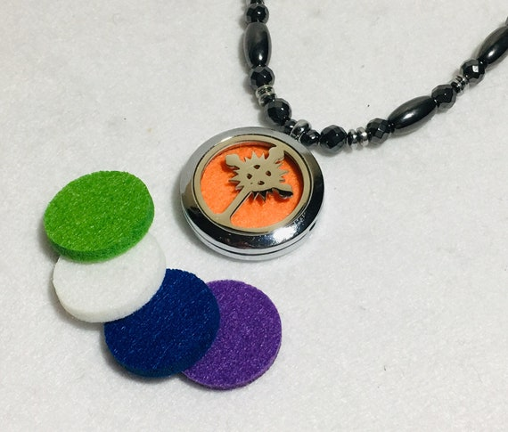 Essential Oil Necklace Diffuser, High Power Magnetic Hematite Therapy Chain, Strong Magnetic