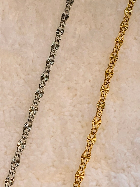 2mm Starburst Chain, Silver or Gold chain w/Lifetime Warranty
