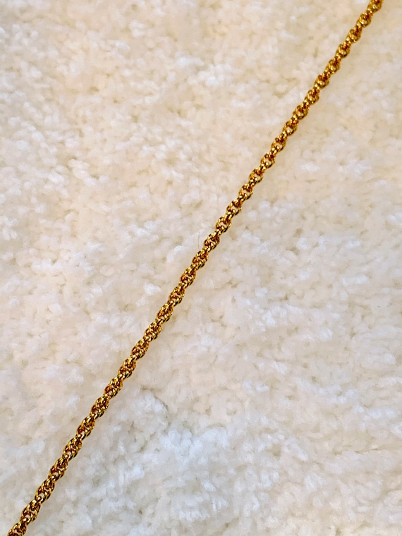 2MM Rope Chain 18k Gold Filled Chain with Lifetime Warranty