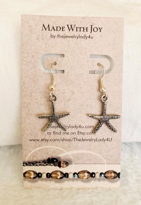 Clearance Star Fish Dangle Earrings Hypoallergenic