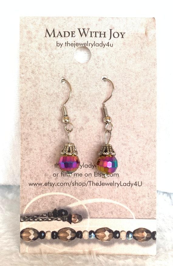 Clearance Rainbow Dangle Earrings Hypoallergenic