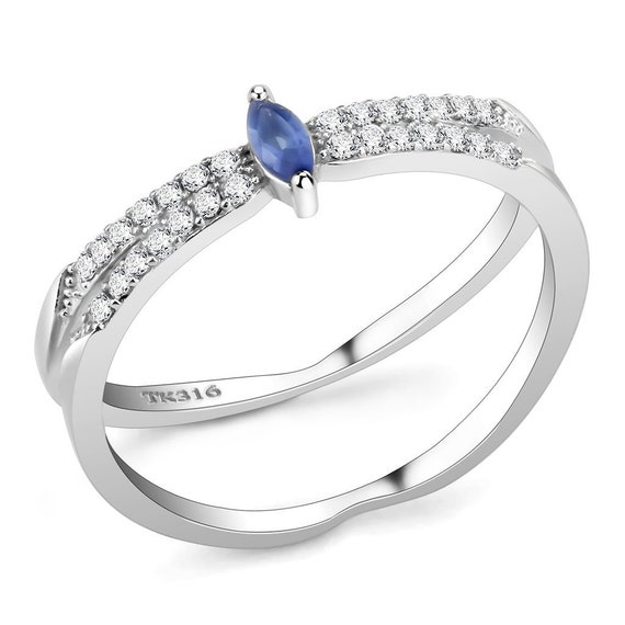 Stainless Steel Ring High polished (no plating) Women Synthetic Montana