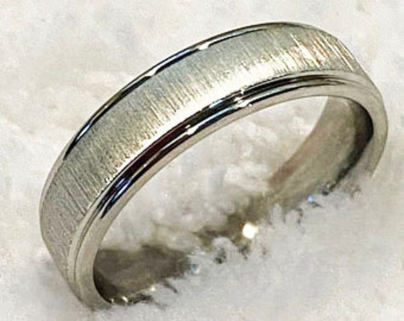 CLEARANCE Brushed Stainless Steel Wedding Ring