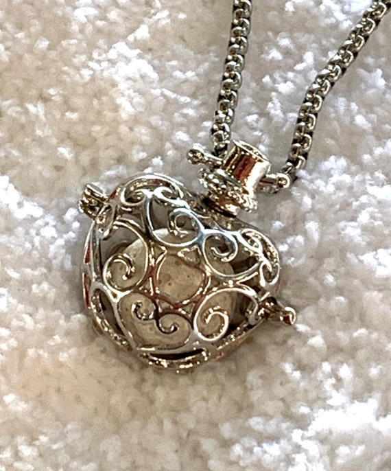 Silver (Plated) Essential Oil Acorn or Apple Necklace Diffuser with 24 inch chain