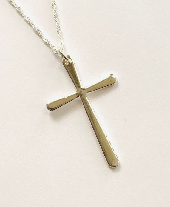 CLEARANCE .925 Sterling Silver Chain and Cross