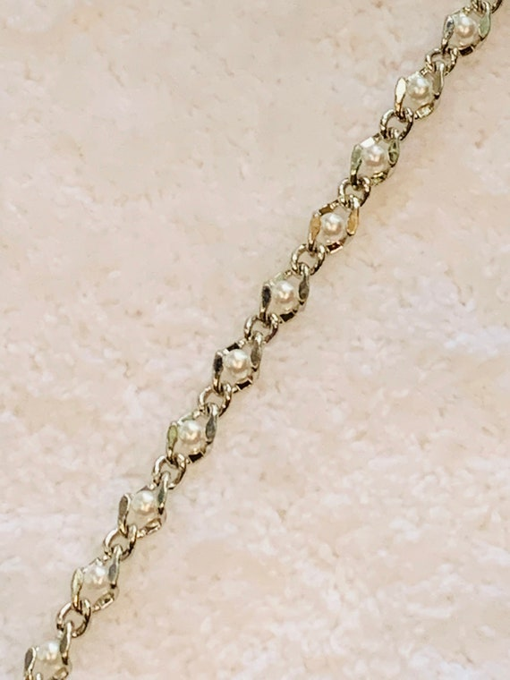 6mm Immitation Pearl Chain 18k Sterling Silver Filled chain w/Lifetime Warranty