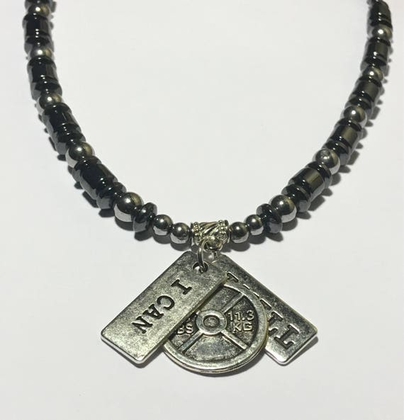 I Can, I Will, Magnetic Hematite Necklace -  High Power Magnetic Therapy