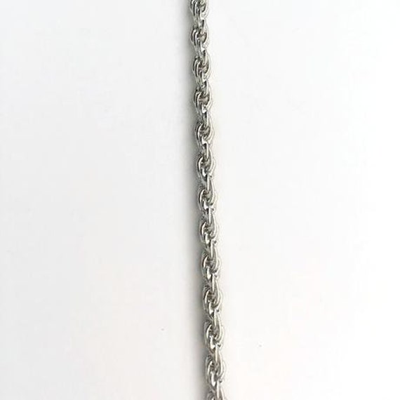Lifetime Guarantee: 3MM Rope Sterling Silver .925 Layered Chain