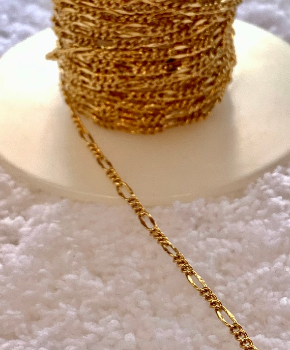 Figaro 18k Gold Filled Chain 1MM with Lifetime Warranty