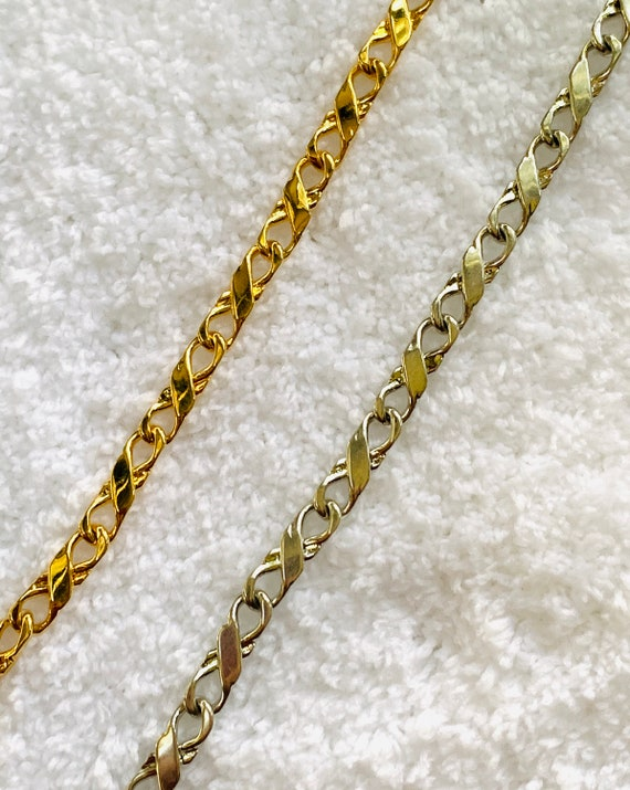 6MM Infinity Chain Sterling Silver or 18k Gold filled Chain w/Lifetime warranty
