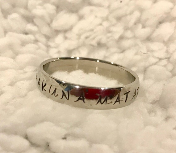 Custom Stamped Stainless Steel Ring