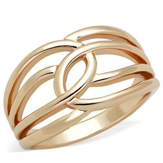 Stainless Steel Ring IP Rose Gold(Ion Plating) Women