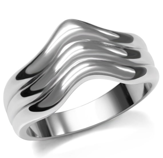Stainless Steel Ring High polished (no plating) Women