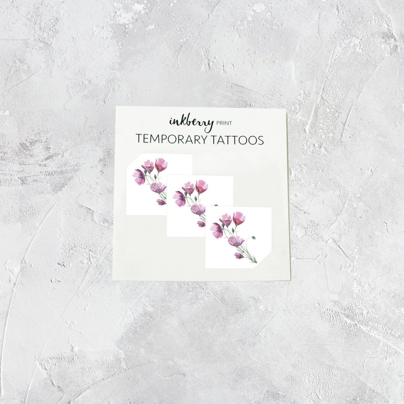 fab0dc4fb Flower temporary tattoo | Etsy