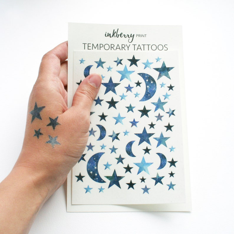 Inspirational Kids Gift Stars Temporary Tattoo Star Map Etsy
