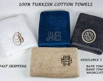 Milano 100% Luxury Turkish Cotton Towels,Personalized Bath Towels,Hand Towels,Washcloth,Monogrammed Towels,Bridesmaid Gift,Bachelorette gift