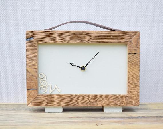 Horloge en bois horloge de bureau horloge moderne tableau