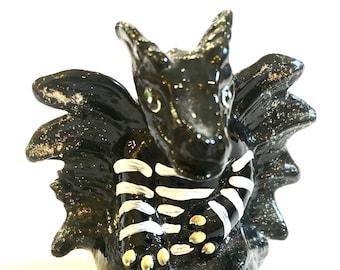 Fenton Black Dragon Dressed for Halloween
