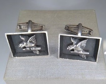 Parrot Cufflinks Pewter Made in UK Gift Boxed or Pouched QUANTITY DISCOUNT 261
