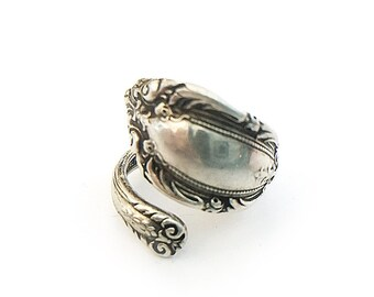 Vintage Sterling Silver Spoon Ring Size 6
