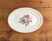 Vintage Rose Platter with...