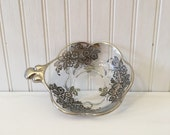 Silver Trimmed Glass Bowl...