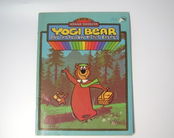 Vintage Yogi Bear Coloring Book Hanna Barbera