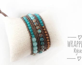 Best of turquoise wrap bracelet