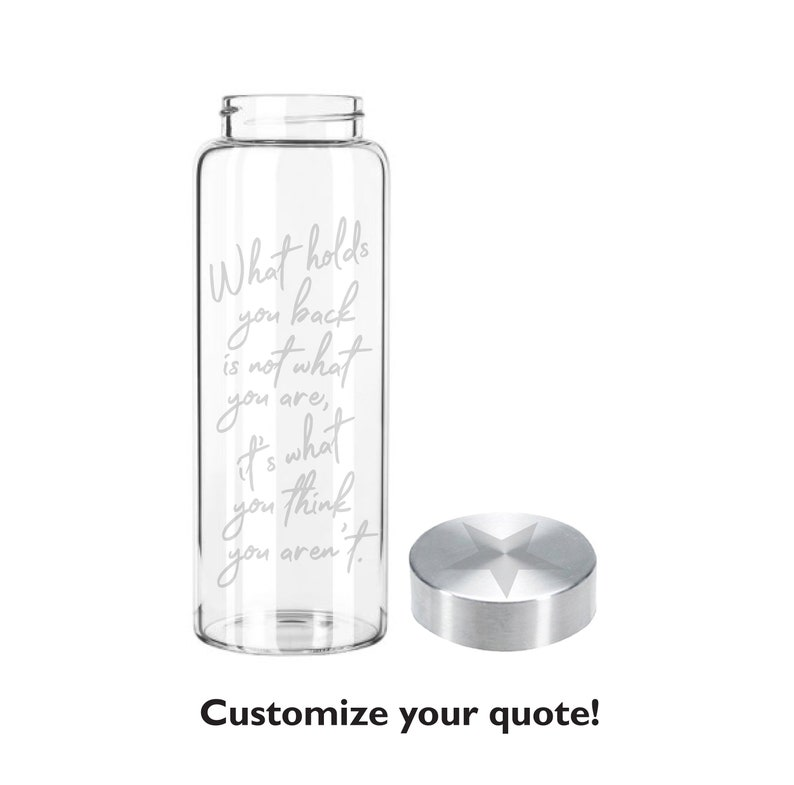 Etched 33oz Custom Quote  Large Glass Bottle  Quote Only