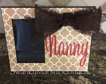 Custom picture frame with name or initials, personalized gift