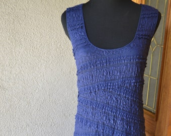 1f305441c25 Vintage Blue Lace Stretchy Wiggle Dress by Max Studio Size L
