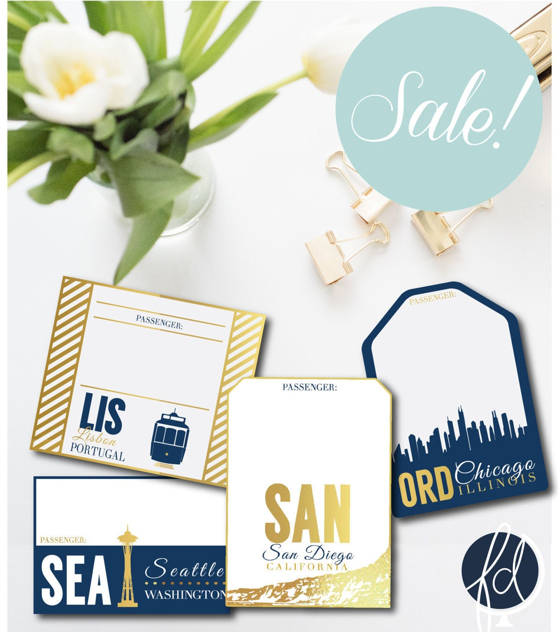 SALE | Travel Themed Table Numbers and Escort Card | Destination ...