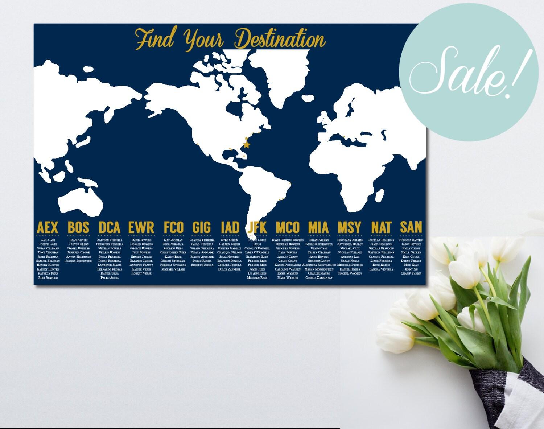 Printable seating chart travel themed wedding world map seating printable seating chart travel themed wedding world map seating chart travel themed seating chart poster find your seat poster gumiabroncs Images