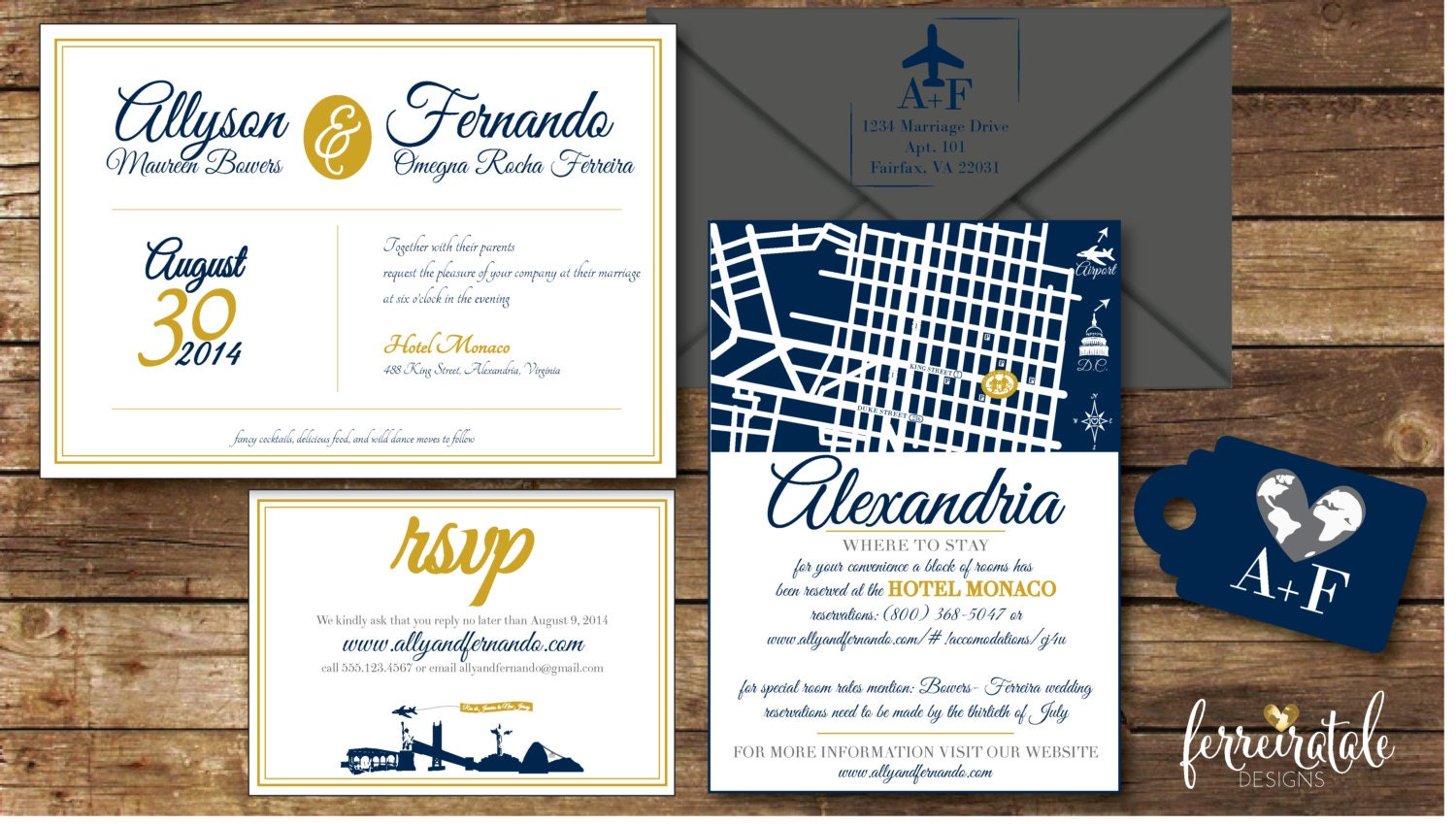 Wedding Invitation, Travel Themed Wedding Invitation, Wedding ...