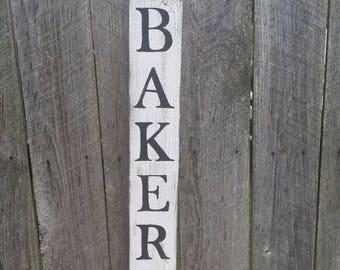 Vertical Bakery Rustic Farmhouse Wall Art, Wood Sign Farmhouse Kitchen Sign
