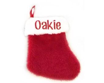 custom mini plush christmas pet stockings animal stocking mini stocking