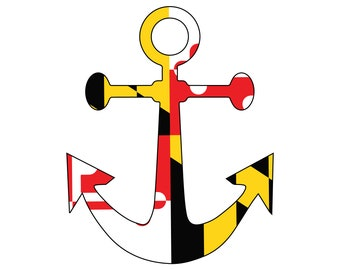 Maryland Flag Anchor Vinyl Decal Sticker Car Truck RV Boat