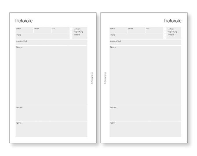 Protocol, Teacher Calendar, A5, Logs, Deposits for Teacher Planners, Calendar Deposits for Teachers