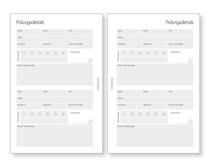 Exams, Teacher Calendar, A5, Deposits for Teacher Planners, Calendar Deposits for Teachers