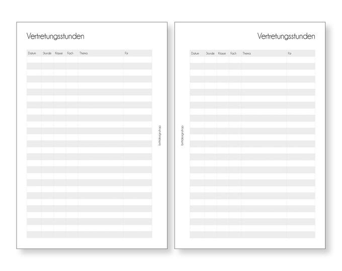 Representations , Teacher Calendar, A5, Deposits for Teacher Planners, Calendar Deposits for Teachers