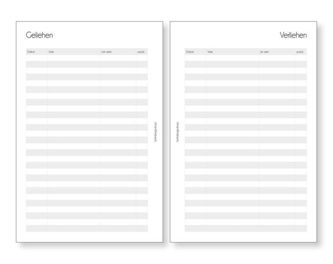 Borrowed , Teacher Calendar, A5, Deposits for Teacher Planners, Calendar Inserts for Teachers