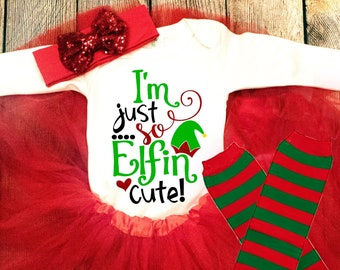 727c566fe251 Baby Girl Christmas Outfit - Toddler Girl Christmas Outfit