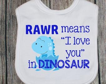Rawr Dinosaur Bib