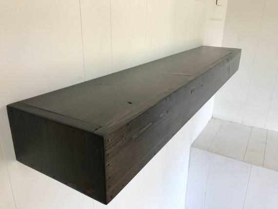 Wood Floating Shelf Rustic Reclaimed Style in Ebony // rustic shelf // rustic shelves // rustic wood