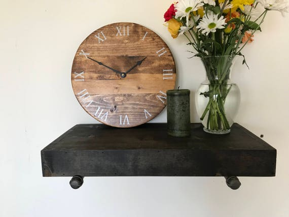 Rustic / Industrial style shelf handmade // rustic shelf // rustic shelves // rustic wood
