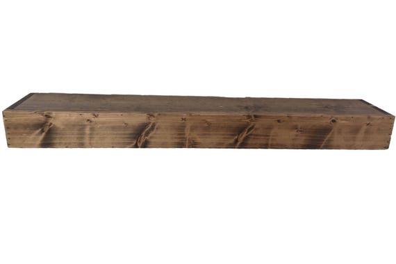Wood Floating Shelf Rustic Reclaimed Style stained in Provincial // rustic shelf // rustic shelves // rustic wood