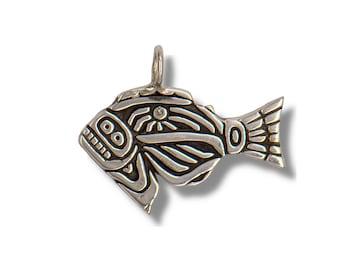 Desert Jasper Necklace with halibut charm