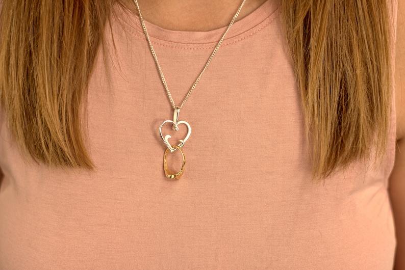 Wedding Ring Holder Necklace Ring Holder Pendant Ring Keeper Necklace Ring Holder Necklace