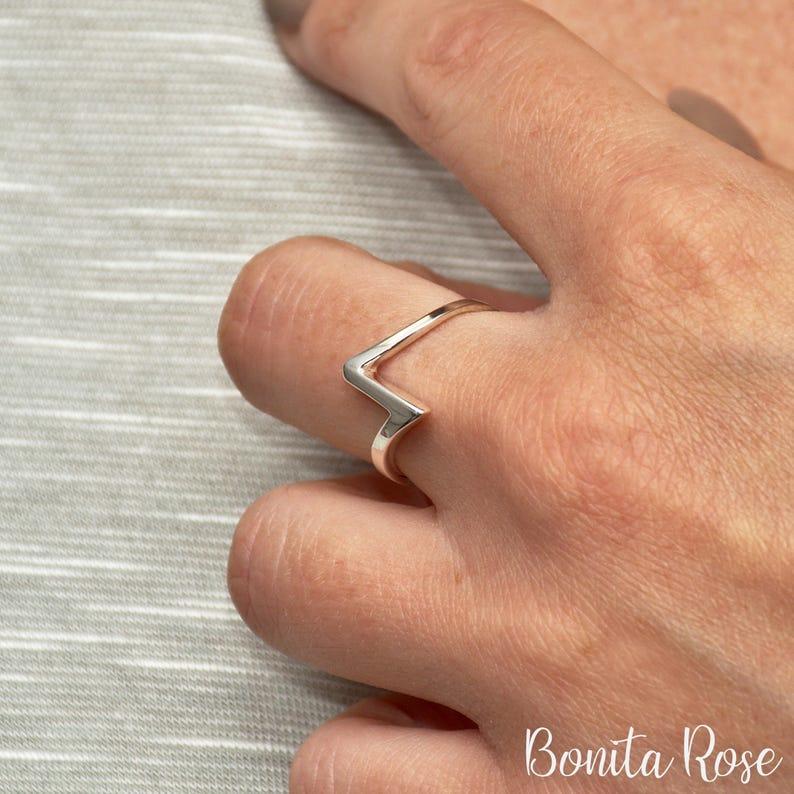 Lightning Bolt Ring Silver Bolt Ring Thunderbolt Ring Silver Lightning Zigzag Ring Lightning Ring Bolt Ring Flash Ring